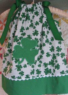 St Patrick day pillowcase dress. Very Cute!