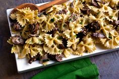 NYT Cooking: This savory pasta is just one idea for gremolata, a pungent mixture of garlic, lemon zest and parsley. It's terrific with the sautéed mushrooms and makes a great condiment for a variety of roasted vegetables. Pasta With Wild Mushrooms, Mushroom Pasta, Stuffed Mushrooms, Mushroom Sauce, Vegetarian Recipes, Cooking Recipes, Healthy Recipes, Cooking Kale, Cooking Pasta