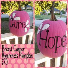 Breast Cancer Awareness Painted Pumpkin https://www.facebook.com/pcmck