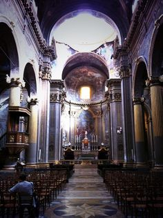 Twitter / @thinkingnomads: Walking the streets of Bologna: the beautiful church of San Bartolomeo in the heart of the city