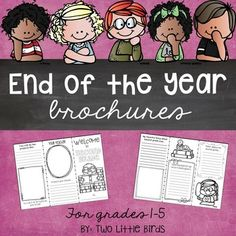 This end of the year writing activity gives your current students a chance to create a brochure for future students in your class.  Your students can reflect on the school year by writing about: *favorite memories *fun projects *things they've learned *all about the teacher *and important thing they have learnedA planning page is also included with a brochure for grades 1-5.