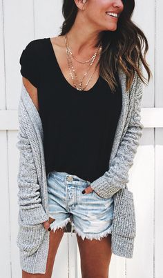 6ce14be15 51 Best gray cardigan outfits images in 2019 | Fall winter fashion ...