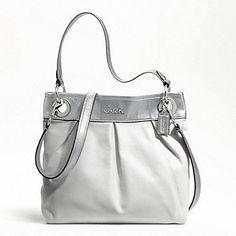 Ashley leather hippie Coach purse! Outlet store $129