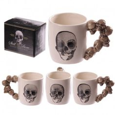 Mug en céramique - Anse crânes