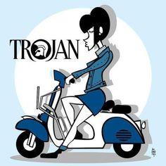 Scooter Girl! #skinheadgirl #vespa #trojan