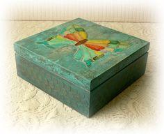 Caja madera mixta mixta caja media caja por CarmenHandCrafts