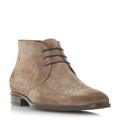 Dune Marlin chisel toe chukka boot, Light Brown