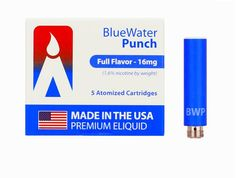 USA-Made MAGMA Prefilled Cartomizers - Bluewater Punch, www.powersmoke.com Usa, How To Make, Volcano, Punch, Watermelon, Volcanoes, Alcoholic Punch, U.s. States