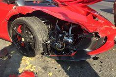 LaFerrari Crash: Driver Loses Control in Budapest, Hits Three Parked Cars - Photo Gallery - autoevolution