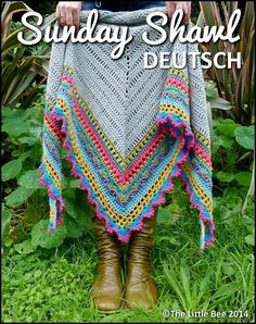 Etsy の Häkelmuster  Sunday Shawl  Deutsch by TheLittleBeeNZ