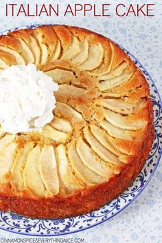 Apples play a starring role in this lemon and vanilla infused cake! Not only are they in the batter but on top too making for a pretty presentation and filling every bite with their tart, sweet flavor.