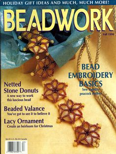 Beadwork Magazine Fall 1989 Beading Tutorials by MostlyVintageMags, $4.00