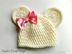 Newborn Baby Girl Bear Hat Newborn-3Months Crochet Knit Photo Prop Infant Photography Prop Cream. $15.99, via Etsy.  idea