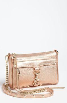 Rebecca Minkoff 'Mini M.A.C.' Shoulder Bag in Rose Gold