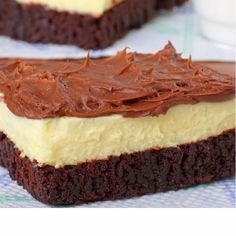 Best Of Cooking: Easy Brownie Bottom Cheesecake with Chocolate Frosting