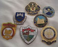 Collection of 7 Vintage Quality Enamel Bowling Club Pin Badges | eBay