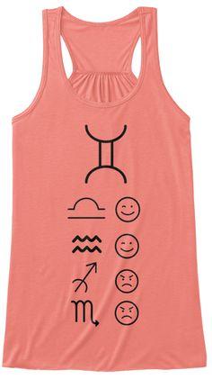 Gemini Love Tanks Light Coral T-Shirt Front