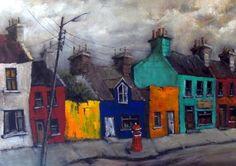 Ardgroom Village by Irish Contemporary Artist Val Byrne