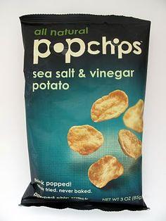 Sea Salt & Vinegar Potato Pop Chips are Vegan. Vegan Snacks, Snack Recipes, Tips For Going Vegan, Popped Chips, Vegan Chips, Vegan Products, Comfort Foods, Sea Salt, Healthy Choices