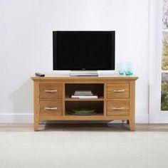 Cambridge Small 90cm Oak TV Unit