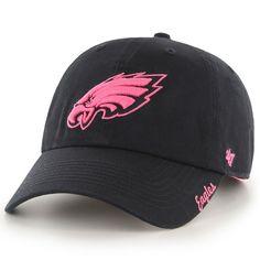 Women s  47 Brand Black Philadelphia Eagles Skyler Clean Up Adjustable Hat 34f5c9f2c472