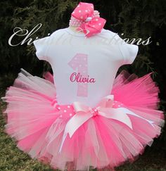 A personal favorite from my Etsy shop https://www.etsy.com/listing/185957574/first-birthday-tutu-baby-girl-birthday