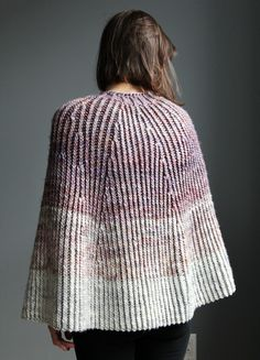 Over & Out Poncho Knitting Pattern by Stephanie Earp.
