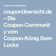 couponübersicht.de – Die Coupon-Community vom Coupon-König Sven Lucka