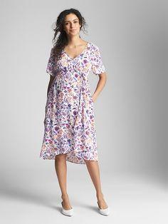 Maternity Floral Short Sleeve Wrap Dress Maternity Dresses 33928f4894