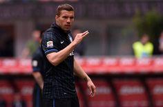 Lukas Podolski Photos: FC Internazionale Milano v AC Chievo Verona - Serie A