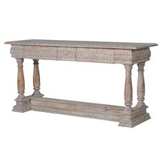 Large Refectory Wooden Console Table