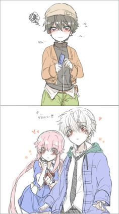 this is so cute. (although i do hate yuno for killing my beloved Akise