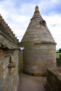 Scotstarvit Tower, Part of the 1627 modifications. Fife, Scotland.