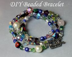 DIY Beaded Bracelet from lesliereese.com