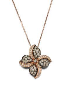 New LE VIAN 14K Rose Gold and Diamond Pendant & Necklace Levian http://lyumax.com/category/fine-jewelry/catId=4457438  #levian #necklace #leviannecklace #finejewelry #goldchain #diamonds #diamondsjewelry #goldjewelry #gold #cute