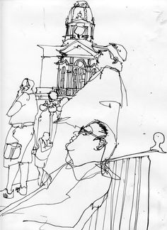 waiting For Parade, Greg Betza Book Drawing, Painting & Drawing, Storyboard, Sketches Of People, Call Art, Sketch Inspiration, Urban Sketching, Art Plastique, Art Sketchbook