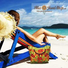 """Are you ready for the beach this summer? Grab one of our """"Large Embroidered Natural Dye Bags"""" to brighten up your summer. Only at www.miajewelshop.com.  Link: http://miajewelshop.com/shop/product-category/embroidered/  #miajewelshop #onlinestore #beach #summer #largebags #bags #handbags #naturaldye #floral #embroidered #plaid #yellow #green #teal #hotpink #turquoise #blue"""