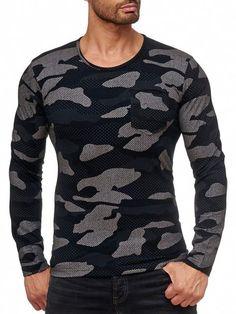 d12d0c33193b08 Red Bridge Herren Camouflage 2118 Longsleeve Langarm mit Brusttasche  Schwarz  camouflage  camo  blackcamouflage