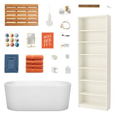 """Retro Bathroom Decor"" by belenloperfido ❤ liked on Polyvore featuring interior, interiors, interior design, home, home decor, interior decorating, Wyndham Collection, West 