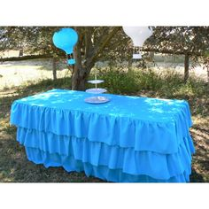 Tiered Ruffle Table Skirt