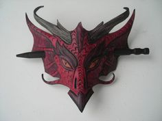 Dragon head leather hair barrette by wingandtalon on Etsy, $35.00