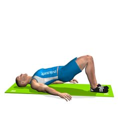 The exercise involves the glutes, the lumbar area (the lower part of the back) and the hamstrings.