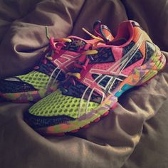 ab7cceb9148e0 Asics Neon Running Shoes Lightly used