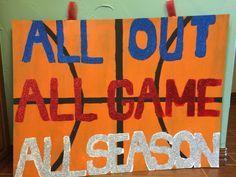 Basketball Cheer Sign                                                       …