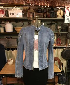Clothing as seen on the Gilmore Girls! Dress like Lorelai Gilmore, Rory Gilmore & other characters from Gilmore Girls! Fill your wardrobe with Gilmore Fashion! Lorelai Gilmore, Gilmore Girls, Moto Jacket, Distressed Denim, Zip Ups, Medium, Sleeves, Jackets, Clothes