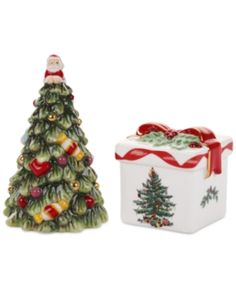 I'm learning all about Spode Christmas Tree Gold Tree and Gift Box Salt and Pepper Set at @Influenster!