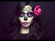 Maquillaje de Catrina Fácil para Principiantes | HALLOWEEN | NatyGloss - YouTube