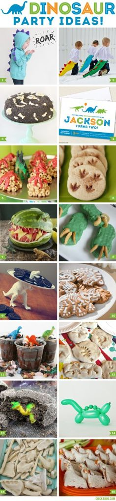 OK, technically these are for a dinosaur themed party. But dinosaurs are science and we just couldn't resist! Fourth Birthday, Dinosaur Birthday Party, 4th Birthday Parties, Boy Birthday, Birthday Ideas, Jurassic, T Rex, Party Ideas, Decoration