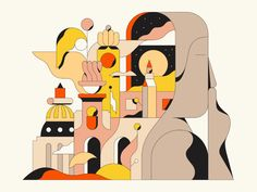 Bold Illustrations by Calvin Sprague Camouflage Geometric Figures and Detached Body Parts Colossal Art, Silent Night, Love Design, Web Design, Buy Prints, Artists Like, Digital Illustration, Flat Illustration, Marker