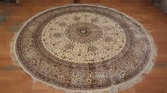 8x8 foot, round silk carpet for sale, 100% hand kontted, central medallion style with high quality  coco@camelcarpet.com whatsapp:008613213228709